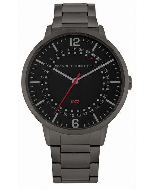 French Connection - Gray Gunmetal Bracelet Watch for Men - Lyst
