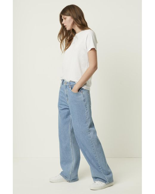French Connection Blue Leona Relaxed Wide Leg Jeans