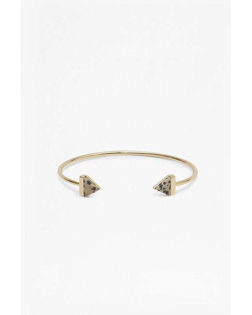 French Connection - Metallic Semi Precious Resin Triangle Bracelet - Lyst