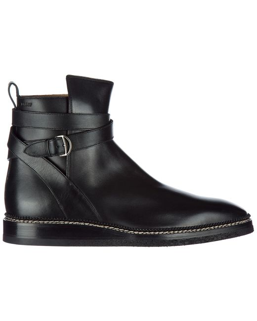 Bally - Black Genuine Leather Ankle Boots Lejor for Men - Lyst