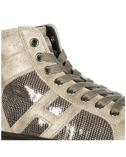 87a892f2007 ... Hogan Rebel - Multicolor Shoes High Top Leather Trainers Sneakers R141  for Men - Lyst