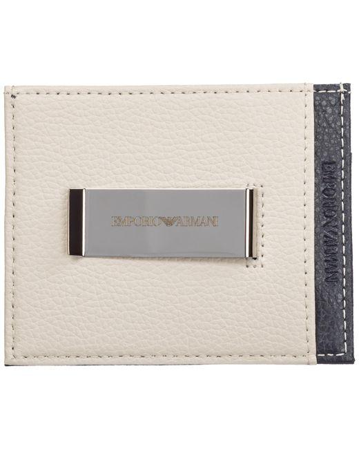 Porta carte di credito portafoglio uomo pelle di Emporio Armani in Multicolor da Uomo