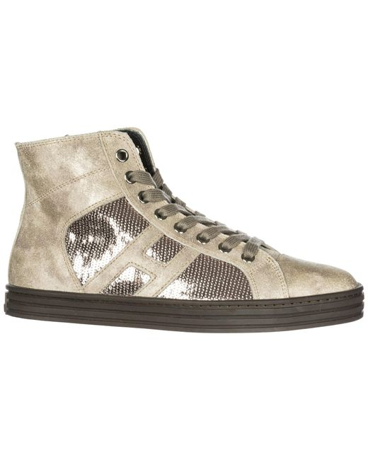 0cd9932007c ... Hogan Rebel - Multicolor Shoes High Top Leather Trainers Sneakers R141  - Lyst ...