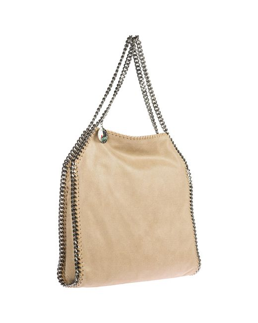 e87d247cefa ... Stella McCartney - Natural Shoulder Bag Falabella Small Tote shaggy Deer  - Lyst ...
