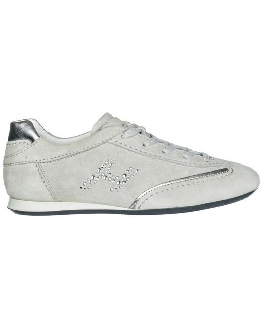 7998a52adc3 Hogan - Gray Shoes Suede Trainers Sneakers Olympia - Lyst ...