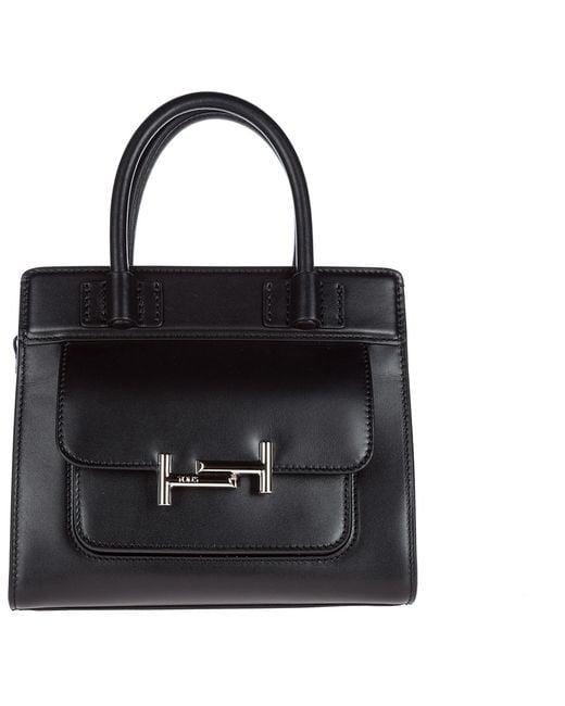 Tod's - Black Leather Handbag Shopping Bag Purse - Lyst