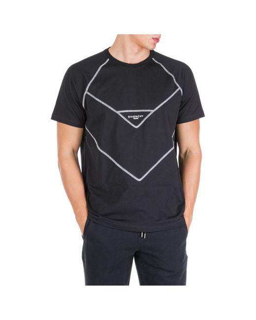 T-shirt maglia maniche corte girocollo uomo regular fit di Givenchy in Black da Uomo