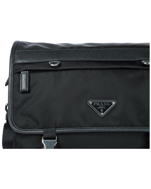 6f74dc31ec58 ... Prada - Black Nylon Cross-body Messenger Shoulder Bag for Men - Lyst ...