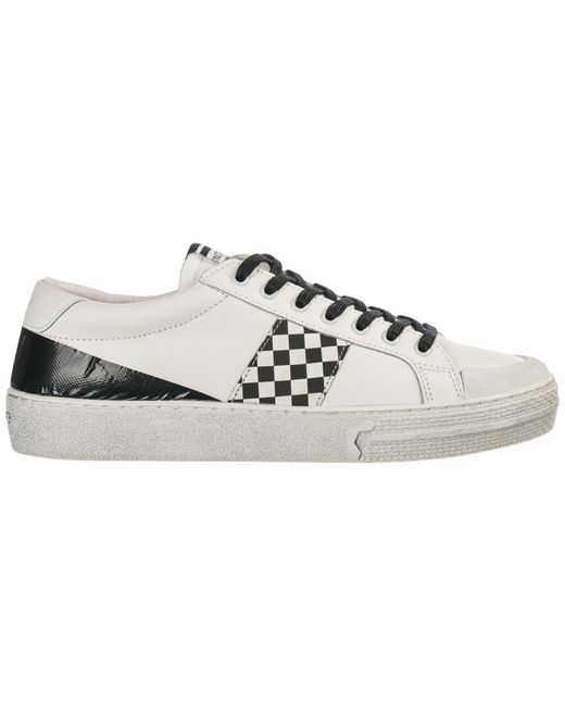 MOA White Men's Shoes Leather Trainers Sneakers for men