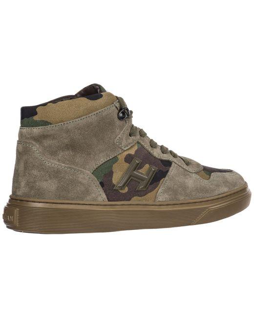 e46c78550ab ... Hogan - Multicolor Shoes High Top Suede Trainers Sneakers for Men - Lyst  ...