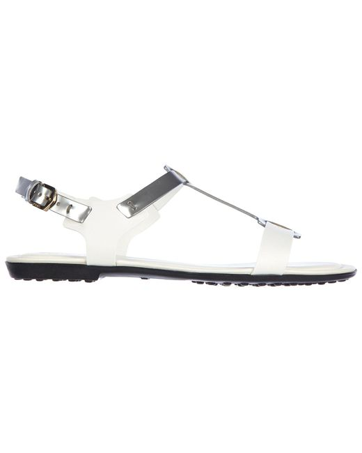 Tod's - Multicolor Leather Sandals - Lyst
