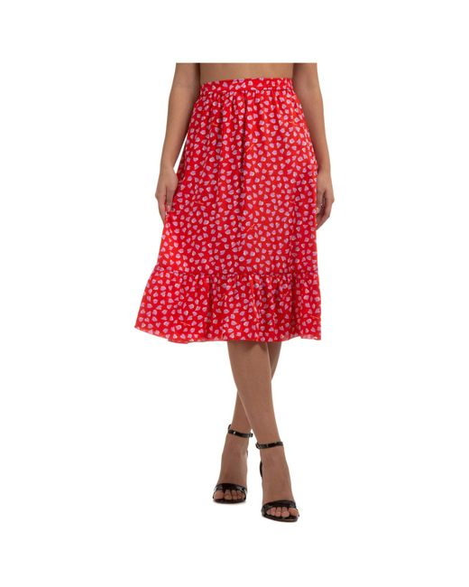 Marc Jacobs Red Women's Skirt Knee Length Midi