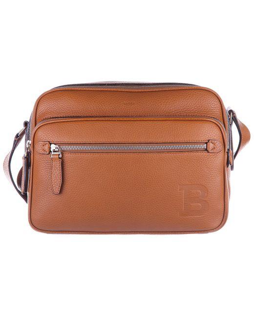 Bally Brown Men's Leather Cross-body Messenger Shoulder Bag Pulitzer for men
