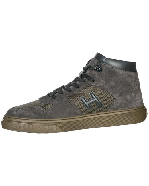 Men's Gray High Top H365 Trainers