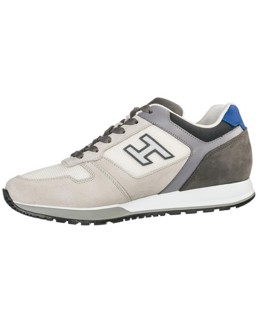 Gray Men's Shoes Suede Sneakers Sneakers H321