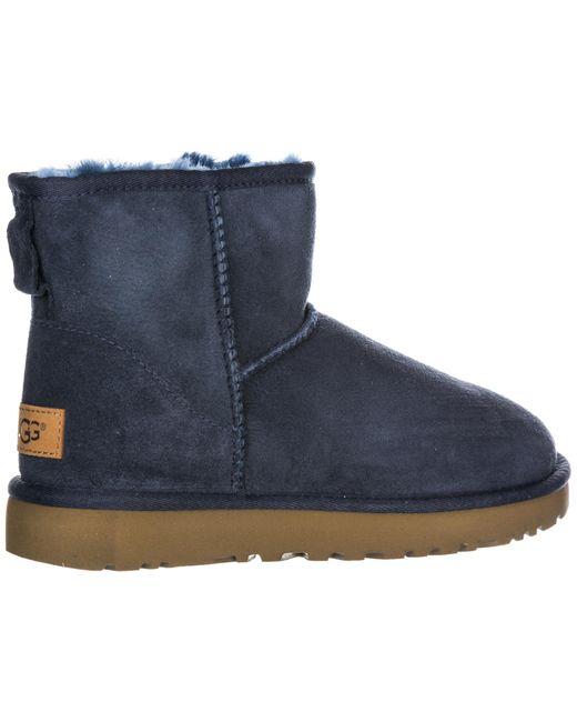 8de22d47b50 UGG Women's Suede Boots Classic Mini Ii in Blue - Lyst