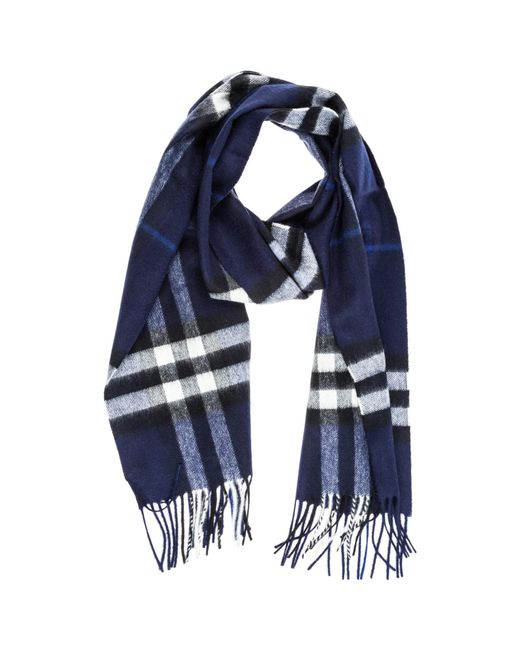 2be80e83c146 Lyst - Burberry Tartan Fringed Scarf in Blue for Men - Save 18%