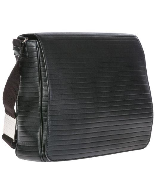... Dior - Black Leather Cross-body Messenger Shoulder Bag for Men - Lyst  ... e11322f02cf45