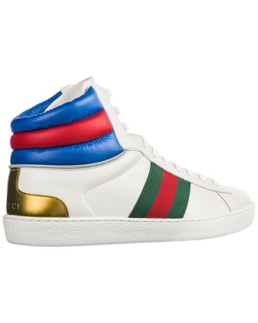 448b5cdcb63 ... Gucci - Multicolor Ace High Top Sneakers for Men - Lyst ...