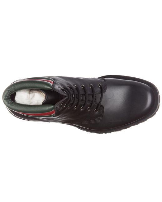 ac80d0b16f6 Black Men's Genuine Leather Ankle Boots Web Pantoufle