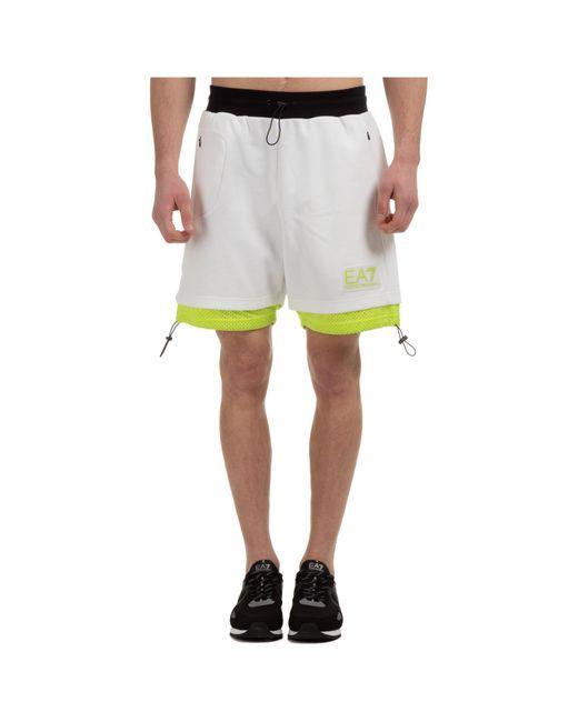 Bermuda shorts pantaloncini uomo di EA7 in White da Uomo