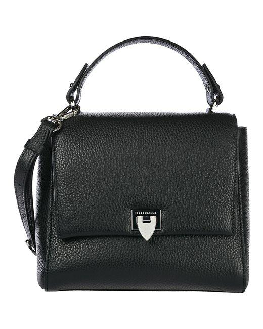Philippe Model Black Women's Leather Shoulder Bag Petit Model