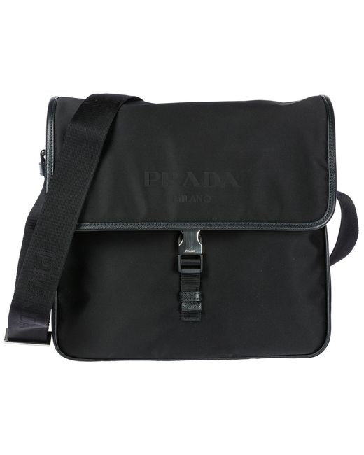 Prada - Black Nylon Cross-body Messenger Shoulder Bag for Men - Lyst