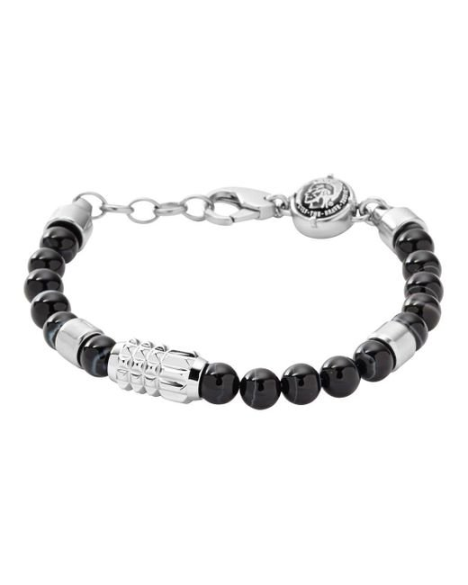 DIESEL Gent Armband Edelstahl mit Achat DX0847040 in Black für Herren