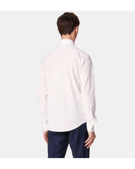 Chemise unie à manches longues Sandro pour homme en coloris White