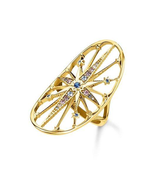 Bague Royalty Étoile dorée Argent sterling 925 ; plaqué or jaune 18 carats Thomas Sabo en coloris Multicolor