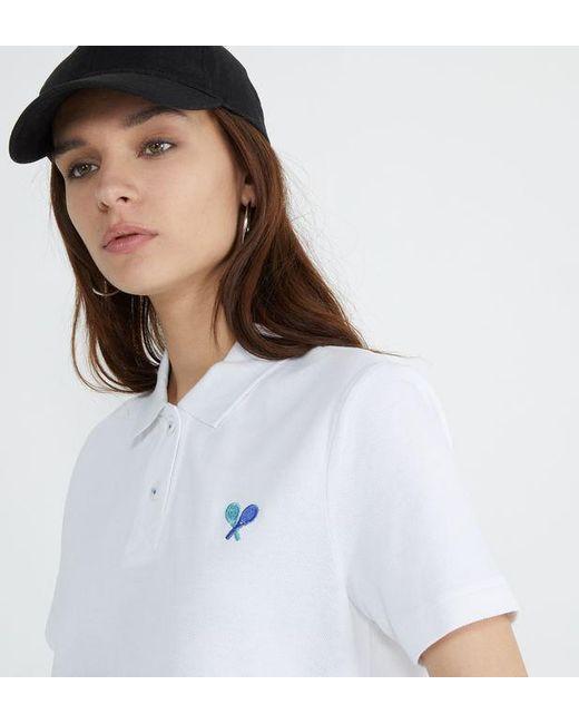 Polo slim coton raquettes Marc O'polo en coloris White