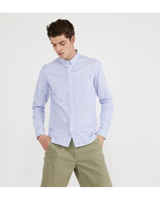 Chemise droite en coton rayé Sandro pour homme en coloris Multicolor