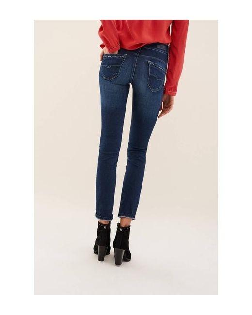 Jeans Secret Glamour enduits Salsa en coloris Blue