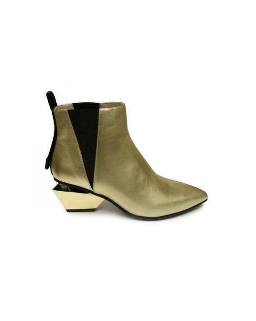 Bottines United Nude en coloris Metallic