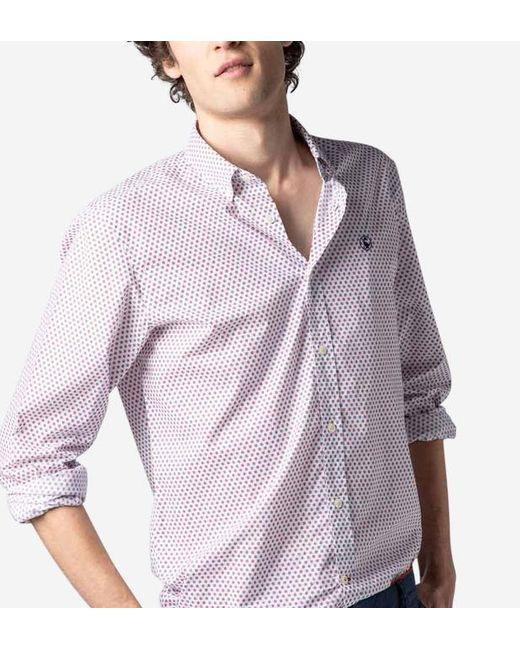 Chemise manches longues imprimé géométrique El Ganso pour homme en coloris Red