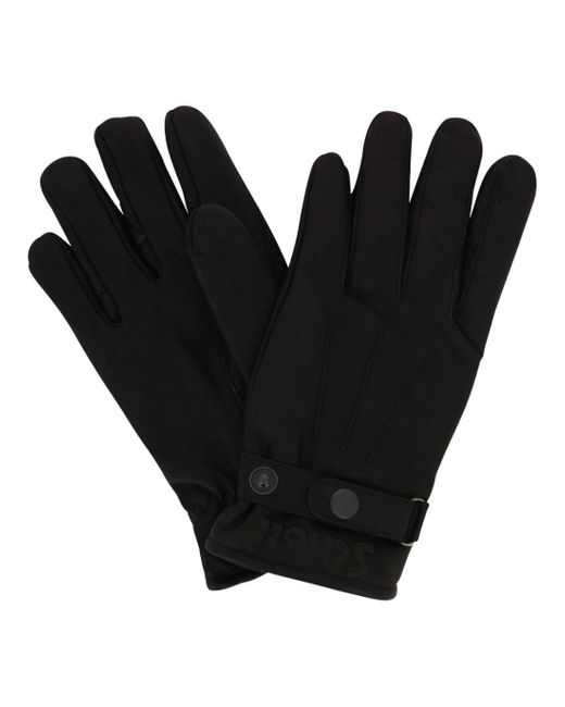 Gants en cuir de vachette doublés polaire Schott Nyc pour homme en coloris Black