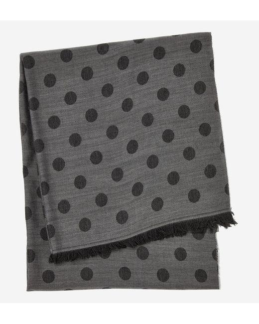Echarpe en laine et soie à pois Azzaro pour homme en coloris Gray