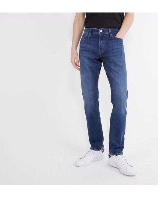 Calvin Klein Jean 026 slim stretch délavé homme de coloris bleu