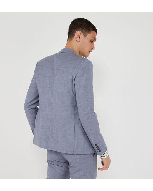 Veste de costume Palace slim en laine Comptoir GL pour homme en coloris Blue