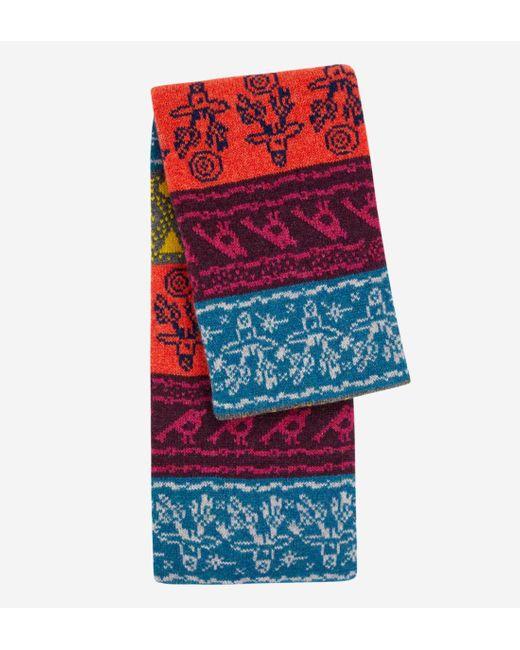 Echarpe en laine imprimé fantaisie Paul Smith pour homme en coloris Red
