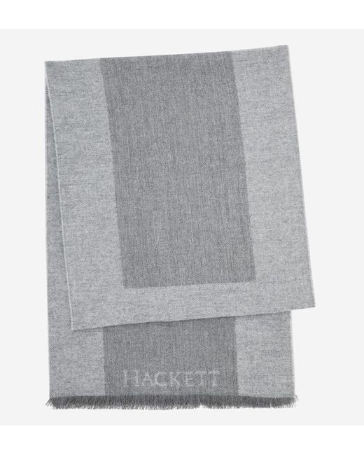 Hackett - Gray Echarpe colour block en laine de mérinos for Men - Lyst