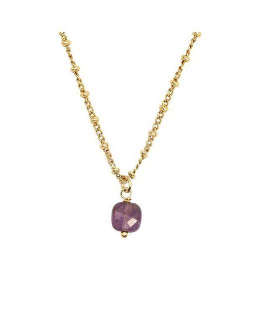 Collier chaine classique pierres naturelles Amethyste AVA Nilai en coloris Purple