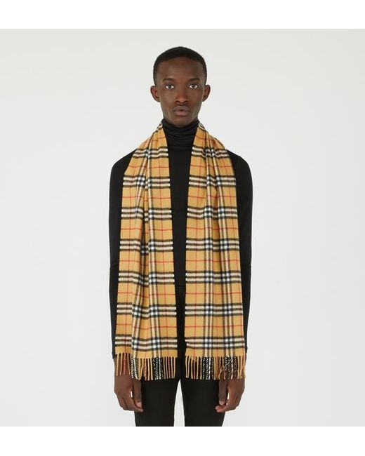 Burberry - Multicolor Écharpe homme classique en cachemire à motif Vintage check for Men - Lyst