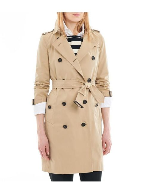 Burberry - Natural Trench mi-long femme The Kensington Heritage - Lyst ... 8bb94aa2ee9