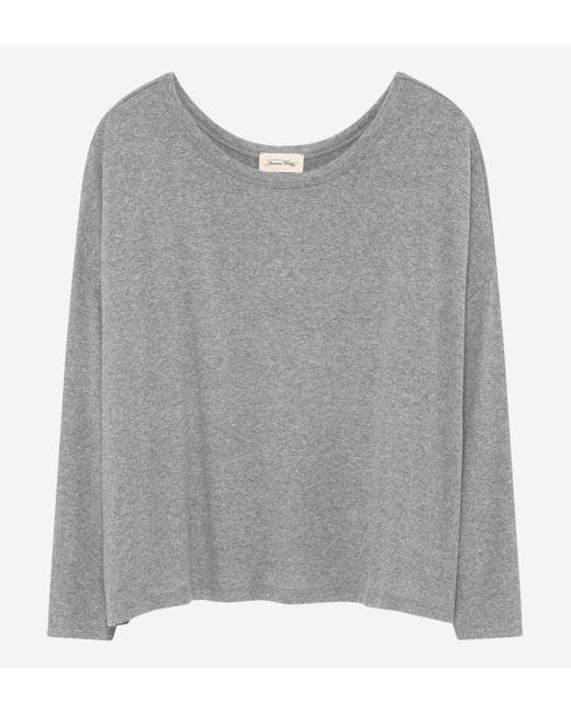 T-shirt manches longues Vetington American Vintage en coloris Gray
