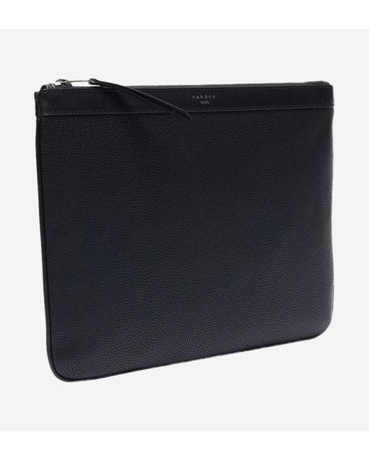 Pochette noire Sandro pour homme en coloris Black