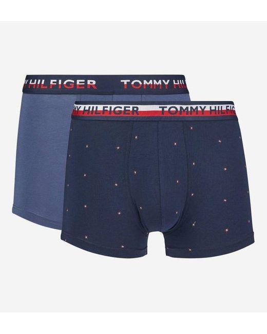 Lot de 2 boxers coton organique Tommy Hilfiger pour homme en coloris Blue