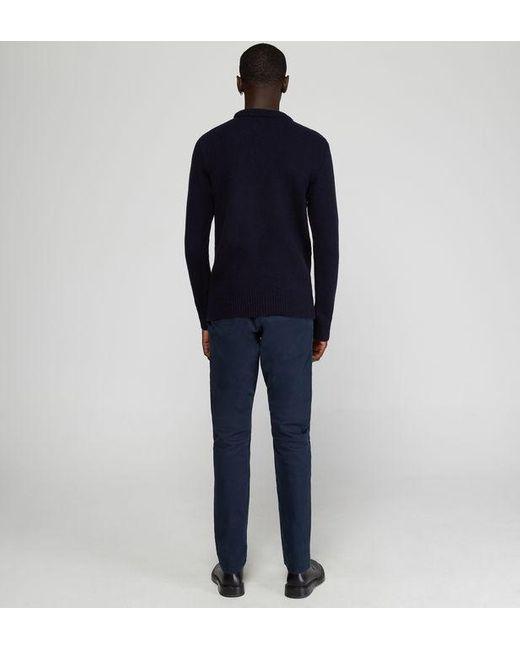 Pull Cable droit en laine torsadée Oliver Spencer pour homme en coloris Blue