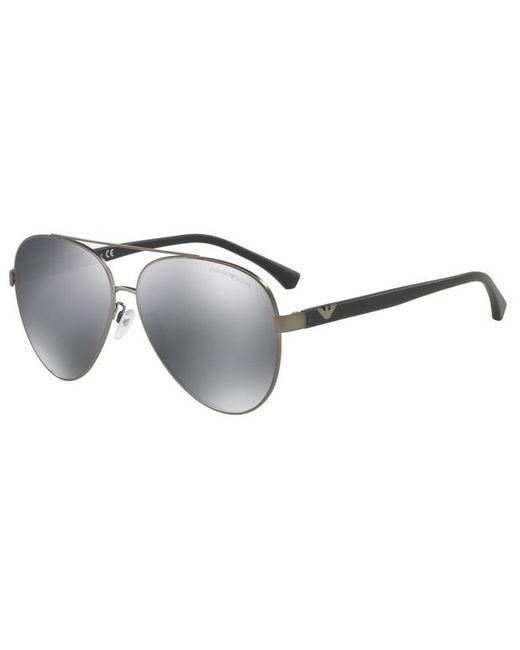 Lunettes de soleil EA2046D Emporio Armani pour homme en coloris Gray