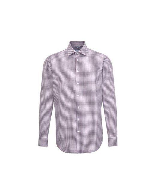 Chemise droite carreaux col classique sans repassage Seidensticker pour homme en coloris Purple